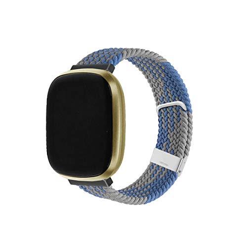 KangPlus Compatible con bandas Fitbit Versa 3/Fitbit Sense, correa de repuesto de nailon transpirable suave y ajustable para mujeres y hombres