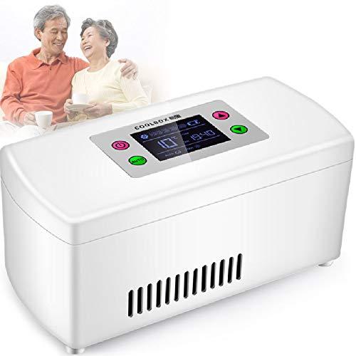 HGJDKSJ Tragbare Insulin Kühlbox, Genaue Temperaturregelung 0-18 ° C, Eingebaute Wiederaufladbare Lithiumbatterie, Geeignet für Die Lagerung von Insulin, Serum, Interferon und Augentropfen