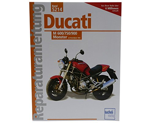 Preisvergleich Produktbild Reparaturbuch Ducati M 600 / 750 / 900 Monster (ab 1993),  Wartung Buch,  Reparaturanleitung