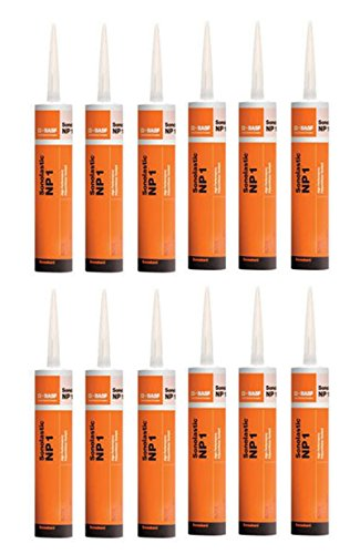 BASF Sealant NP1 Polyurethane Black 10.1 Oz - 12 Pack