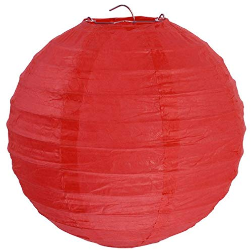 Chal - 2 Lampions Boules Chinoises 30 cm Rouge
