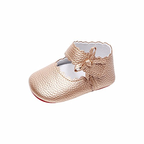 Lurryly Soft Sole Bowknot Shoes Newborn Baby Boys Girls Casual Shoe(Toddler/Little Kid)