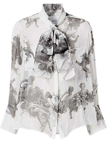 BURBERRY Luxury Fashion Damen 8025227 Weiss Seide Bluse | Frühling Sommer 20