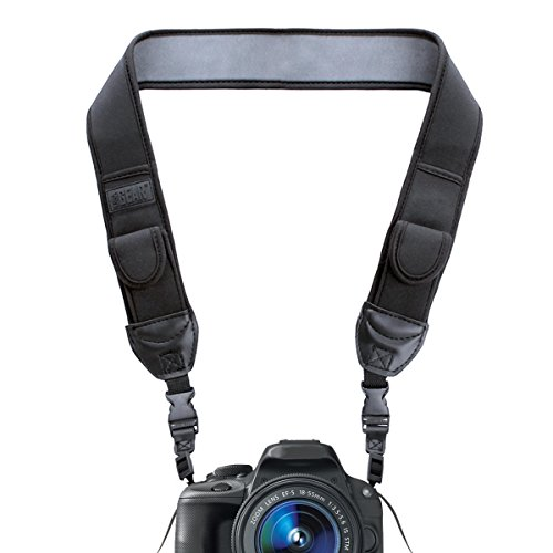 USA Gear TrueSHOT Camera Strap With Black Neoprene Pattern
