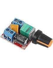 ARCELI Toerentalregeling van de DC, driver board 3V-35V 5A PWM controller traploze DC 3V 6V 12V 24V 35V variabele spanningsregelaar dimmer Governor switching Build met LED-display en switch-functie