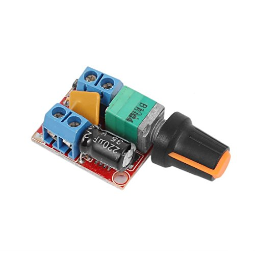 ARCELI DC Motor Drehzahlregelung Treiberplatine 3V-35V 5A PWM Controller Stufenlose DC 3V 6V 12V 24V 35V Variable Spannungsregler Dimmer Governor Switching Build mit LED-Anzeige und Switch-Funktion