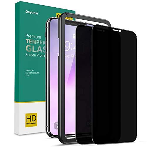 Deyooxi Cristal Templado Privacidad para iPhone 11/iPhone XR,2 Unidades 3D Completa de...