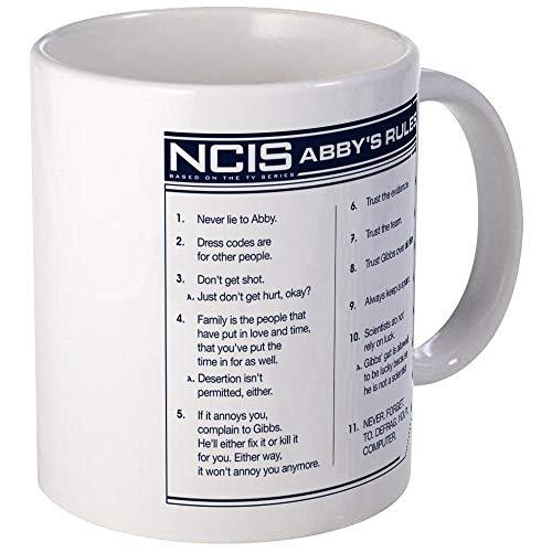 N\A Taza de Las Reglas de NCIS Abby Taza de café única, Taza de café