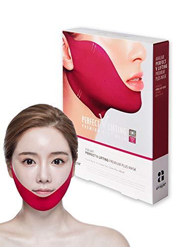 Avajar Perfect V Lifting Premium Plus+ Mask 5pcs - Face Lifting Mask | Neck Slimmer | V Line Mask | Face Slimmer | Chin Strap For Double Chin Remover | V Shaped Slimming Face Mask | Double Chin Mask