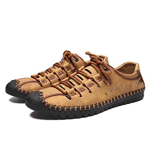 Sandalias de Verano Sandalias Ajustables para Hombres/Mujeres cómodos Deportes al Aire Libre Zapatos de Senderismo Adecuado para Deportes al Aire Libre Senderismo (Color : Khaki, Size : 45)