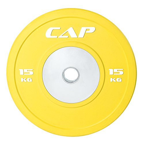 CAP Barbell Olympic Rubber Bumper Plate with Steel Hub 2