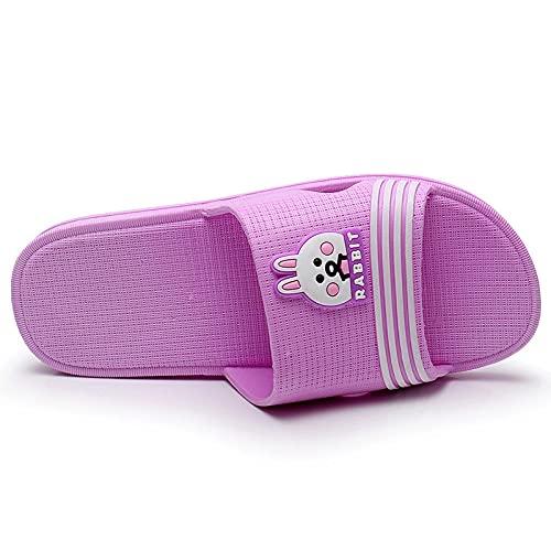 WENHUA Zapatos de Playa y Piscina para Hombre Baño, Zapatillas de Goma para Hombre, Sandalias de baño de Dibujos Animados para Mujer, Purple_38