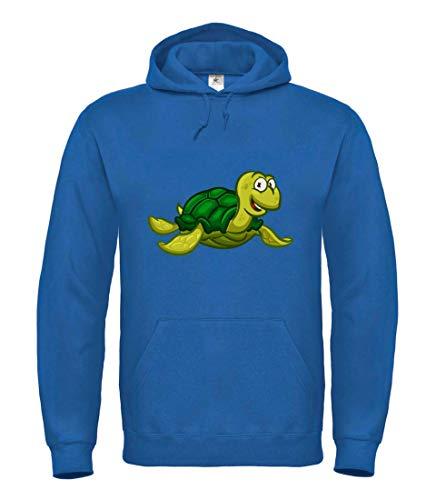 Hoodie - Schildkröte Cartoon Comic Freudig - Kapuzenpullover für Frauen und Damen