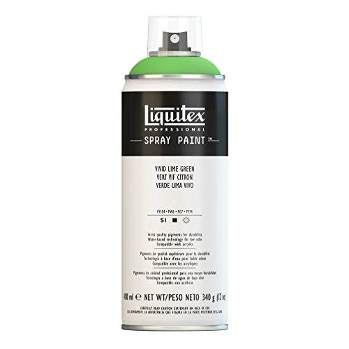 Liquitex Professional Spray Paint - Acrylfarbe, Farbspray auf Wasserbasis, lichtecht, 400 ml - Zitronengrün feurig
