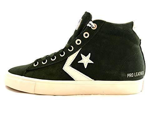 Converse Lifestyle PRO Leather Vulc Mid, Scarpe da Ginnastica Basse Unisex-Adulto, Multicolore (Utility Green/Light Gray 316), 40 EU