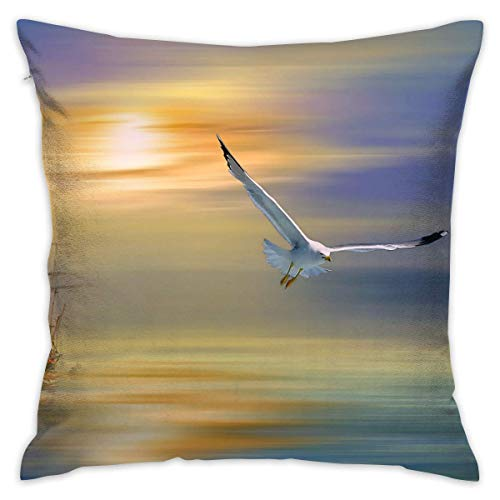 "FPDecor Housses de Coussin, Pillow Cover 18""X18"" inch Seagull Pillowcase Square Throw Case Cushion for Sofa Decorative"