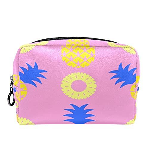 Pop Tropical FruitPattern - Neceser impermeable para niñas con cremallera monedero con cremallera negra para mujeres y niñas, bolsa de maquillaje, bolsa de viaje para cosméticos