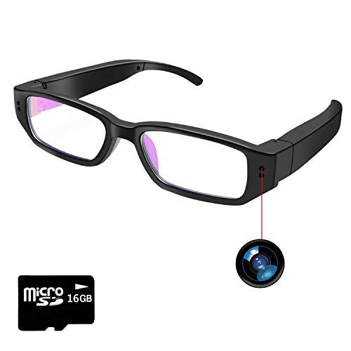 Camara Espia Ocuta con Gafas, Gafas con Camara 1080P HD, Gafas Espia Tomar Fotos Grabación de Video con Una Tarjeta SD de 16 GB