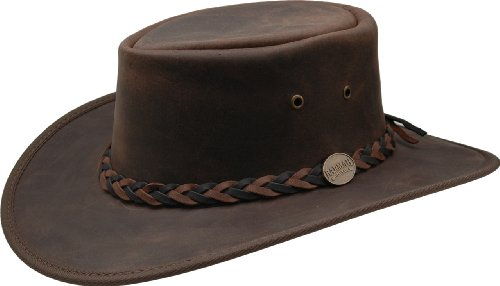 Barmah - Squashy Bronco - Australian Leather Hat M (55-56)