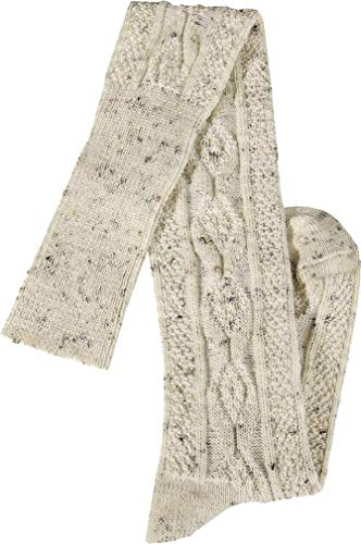 RS. Harmony   Trachtenstrümpfe für Herren   Extra langer Loden Tweed Gipfelkreuz   1 Paar   natur-melange   43-46