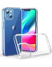 NIMASO ケース iPhone 13 iPhone13 用 カバー 背面 強化 ガラス バンパー TPU クリア カバー 6.1インチ用 NSC21H306