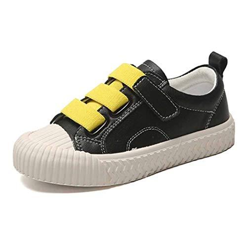 Zapatillas de Skate para niños Zapatillas de Deporte de Cuero con Punta Redonda Liviana Zapatillas de Deporte para niñas y niños Zapatillas de Deporte con Suela Blanda Informal Resistente al Agua