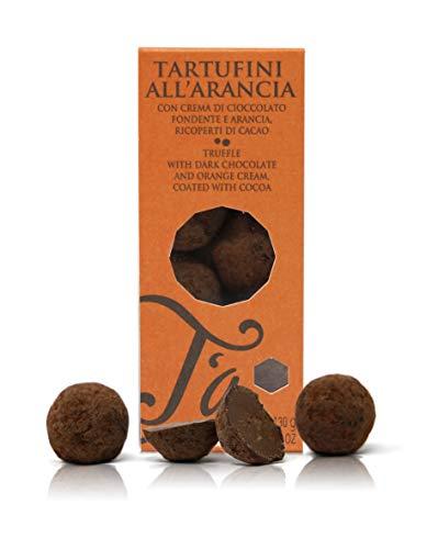Ta Milano Trufas de Chocolate Negro con Naranja Cubiertas de Cacao en Polvo - 130 gr