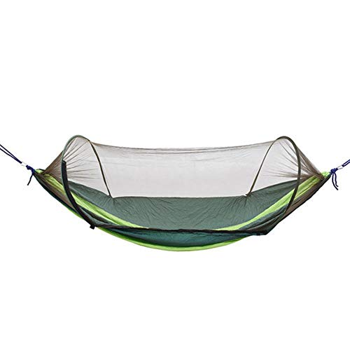 Hamacas Camping/Garden Hammock with Mosquito Net Outdoor Furniture 1-2 Person Portable Hanging Bed Strength Parachute Fabric Sleep Swing,A