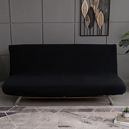 HJFGIRL Sofa Cover Without Armrests, Modern Print Sofa Cover 1/2/3 Seater Without Armrest Stretch Couch Cover Armless Sofa Bed Cover for Folding Sofa Bed Without Armrests,C-155-185CM