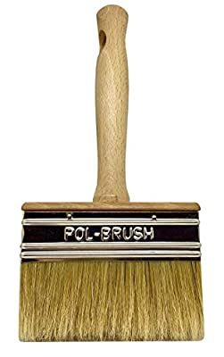 Stain Brush - Natural Bristle\Wood Handle; For Professional & Amateur Paint Job, Oil Stain, Wax, Varnish, Glue and etc. …