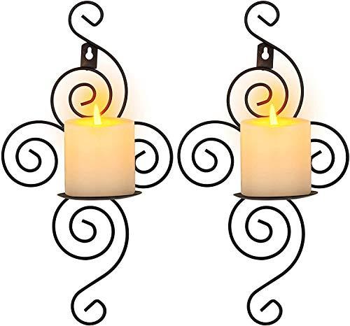 Los titulares de velas hechas a mano de hierro Inicio aplique Vela...