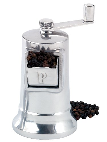 Harold Perfex Classic Adjustable Grinding Aluminum Metal Crank Pepper Mill, 4.5