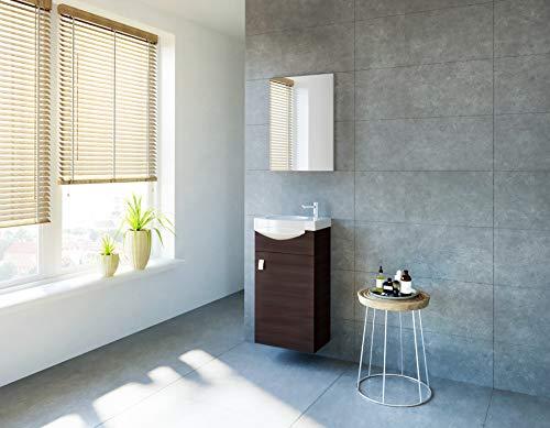 Planetmoebel - Juego de muebles de baño para invitados, lavabo, lavabo de...