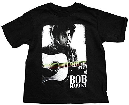 Bob Marley Guitar Poster Toddler T-Shirt 3T Black