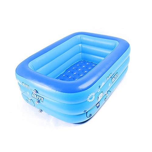 æ— Aufblasbare Schwimmbäder, Kiddie Pools, Familien-Lounge-Pools, PVC Familienpool für Kinder, Erwachsene, Outdoor, Garten, 129,5 x 78,7 x 39,4 cm, für Kinder ab 3 Jahren