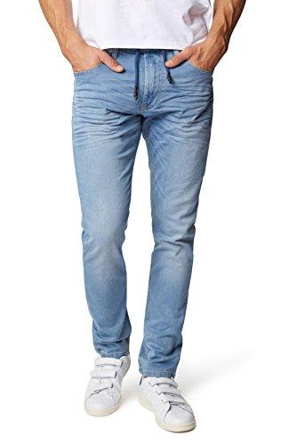WOTEGA Herren Jeans Tim - Skinny Fit Jeans - Bund mit Gummizug, Light Blue Used (422), W34/L34