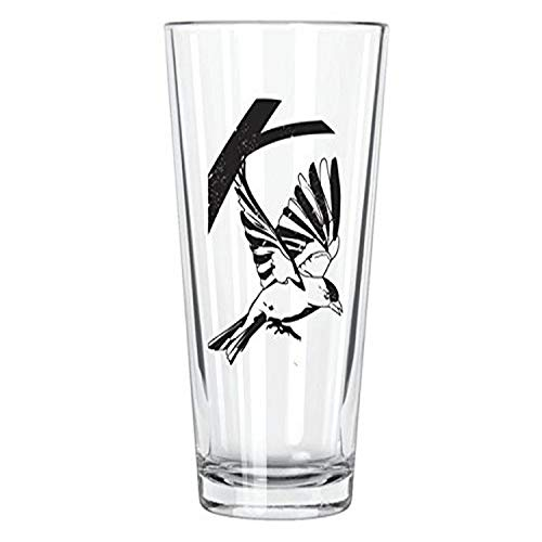 Corkology American Goldfinch Pintglas, transparent