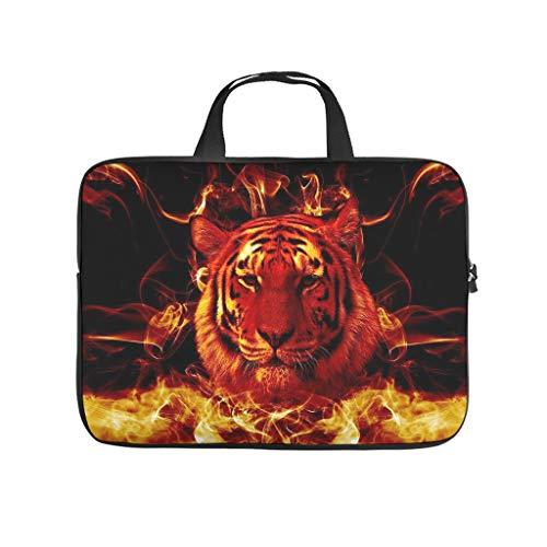Fire Tiger Animal Laptop Bag Waterproof Laptop Protective Bag Stylish Notebook Bag for University Work Business
