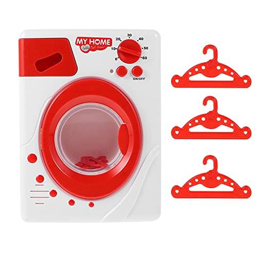 FAVOMOTO Niños Lavadora de Juguete Cocina de Simulación de Juego de rol Electrodoméstico Juguetes Mininatura Casa de Muñecas Muebles para Niños Casa de Juegos Accesorios de Juguete