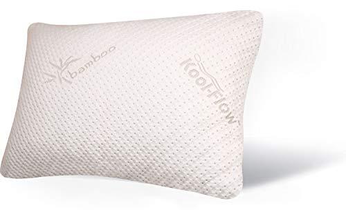 Snuggle-Pedic Original USA Made Ultra-Luxury Bamboo Shredded Memory Foam Pillow Combination –...
