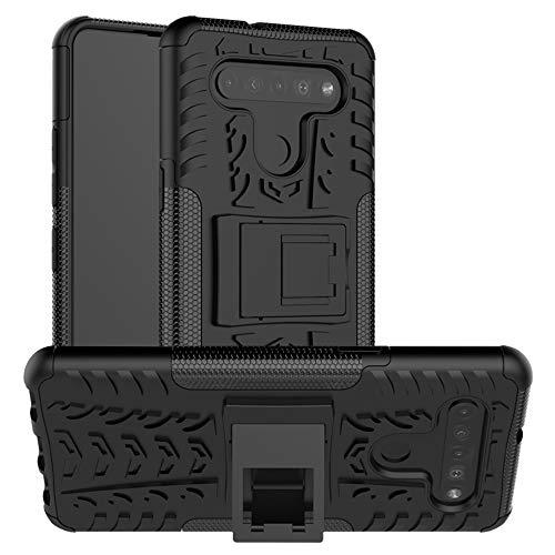 LFDZ Cover LG K51S,Resistente alle Cadute Armatura Robusta Custodia Protective Case Cover per LG K51S / LG K41S Smartphone(Not Fit Other Models),Nero