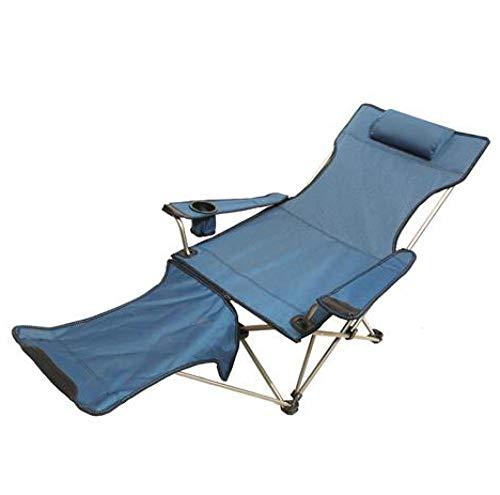 Amosiwallart Silla de Camping Plegable Ligera y Resistente, Adecuada para Senderismo, Pesca, Barbacoa, Picnic, Resistencia a caídas,-Azul
