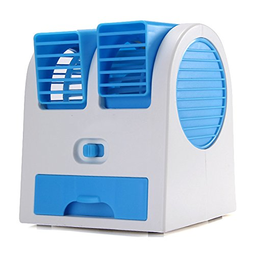 MSE Hard Plastic Mini Portable Air Conditioner Eco-Friendly Cooling Fan, Multicolour