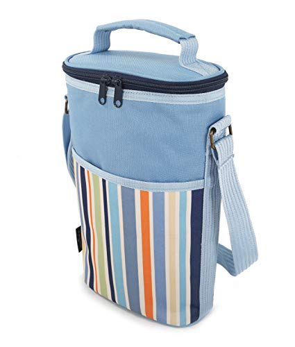 Greenfield Collection Duo Sky Blue Wine Cooler Bag