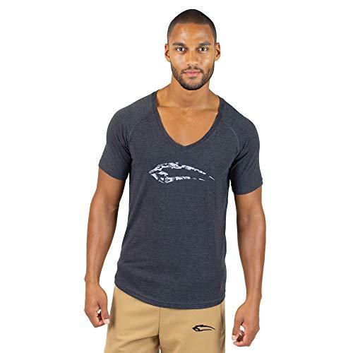 SMILODOX-Camiseta hombre con cuello Para deporte fitness gimnasio