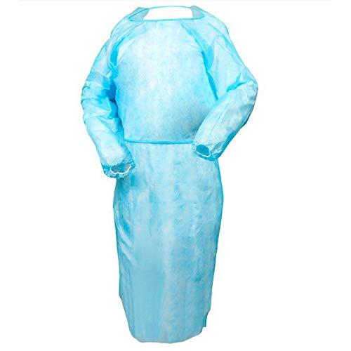 TronicXL 50 sztuk odzieży ochronnej, fartuch ochronny, kombinezon foliowy, jednorazowy fartuch malarski, kuchnia, bistro, gastronomia, szpitale, rzeźniarstwo, laboratorium, rzeźnik, jednorazowe tworzywo sztuczne
