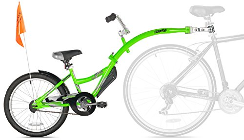 Image of WeeRide Kazam Co-Pilot Bike Trailer, Green