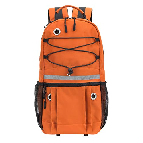 PACMAXI Oxygen Backpack Portable Oxygen Bag for Wheelchair, Scooter, Rollator, Oxygen Accessories Backpack with Reflective Strap for Women, Men, Elder, Fits M2, A/M4, ML6, B/M6, M7, C/M9 (Orange)