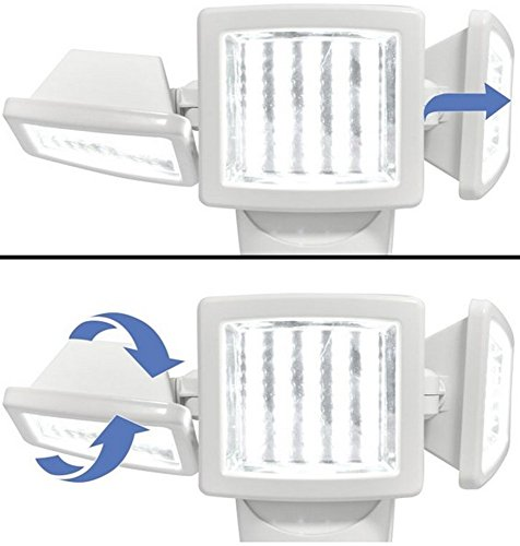 Sunforce 82153 150-LED Triple Head Solar Motion Light, 1000 Lumen Output, 30ft. (9.1m) Detection Distance, 180 Degrees Detection Range, Fully Weather Resistant and can be Mounted Almost Anywhere