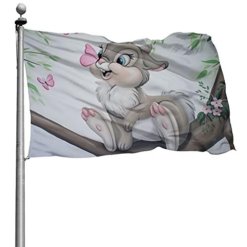 Bambi Flagge, verschleißfest, dekorative Flagge mit exquisiten Druckmustern, geeignet für die Dekoration von Innenräumen, Gärten, Hof 1,2 x 1,8 m